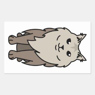 Maine Coon Cat Cartoon Rectangular Sticker