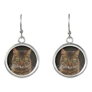 Maine Coon Cat Earrings