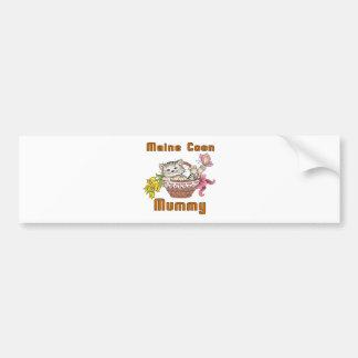 Maine Coon Cat Mom Bumper Sticker