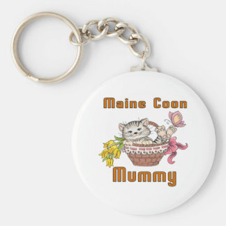 Maine Coon Cat Mom Key Ring