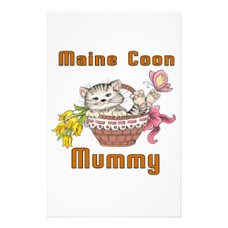 Maine Coon Cat Mom Stationery