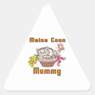 Maine Coon Cat Mom Triangle Sticker