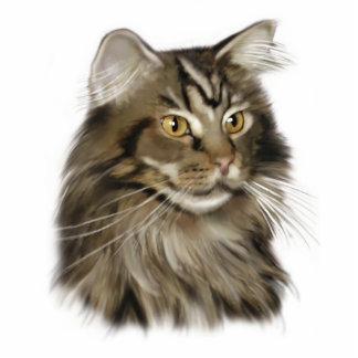 Maine Coon Cat Standing Photo Sculpture