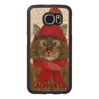 Maine Coon Cat Wood Phone Case