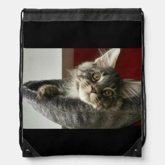 Maine Coon Kitten Drawstring Backpack