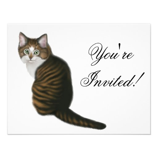Maine Coon Kitten Invitation