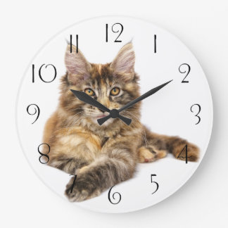 Maine Coon Large Clock