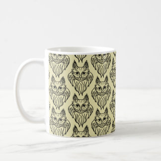 Maine Coon Patterned Mug