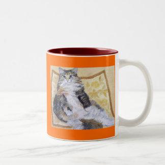 Maine Coon Portrait Two-Tone Coffee Mug
