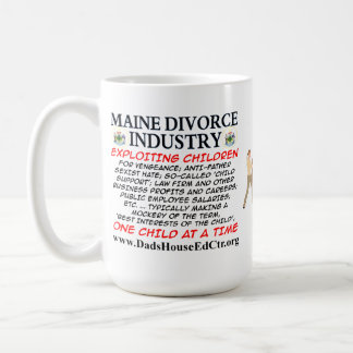 Maine Divorce Industry. Basic White Mug