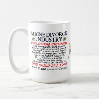 Maine Divorce Industry. Basic White Mug