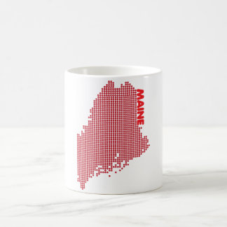 Maine Dotted State - Red Coffee Mug