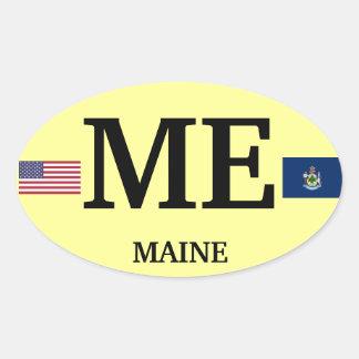 Maine* Europea-style Oval Sticker