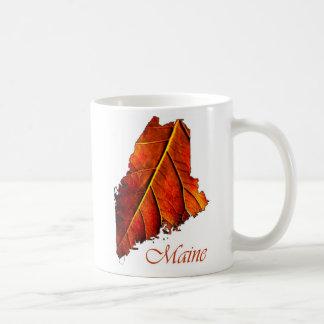Maine Fall Foliage Orange Colored Leaf Classic White Coffee Mug