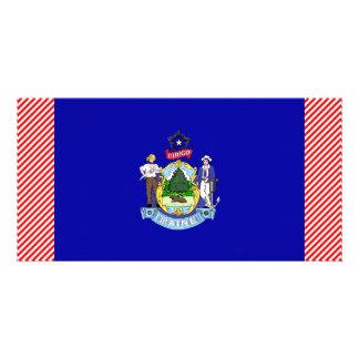 Maine Flag Photo Card Template