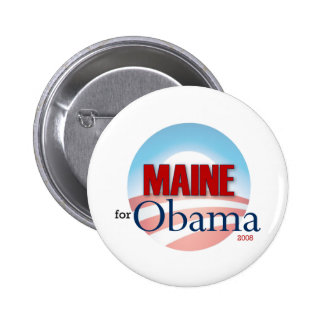 Maine for Obama Pinback Buttons