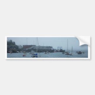 Maine Harbor Bumper Sticker