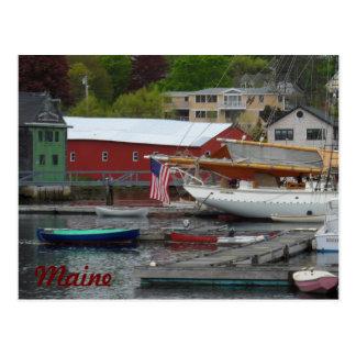 Maine Harbor Postcard