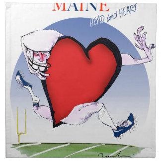 maine head heart, tony fernandes napkin