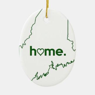 Maine Home Design Ceramic Ornament