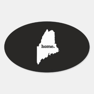 Maine Home Oval Sticker
