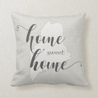 Maine - Home Sweet Home burlap-look Cushion