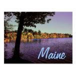 Maine Lake Postcard