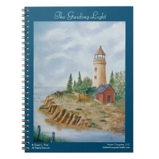 Maine Lighthouse, Coastal Seascape Art Notebook