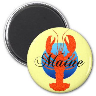 Maine lobster 6 cm round magnet