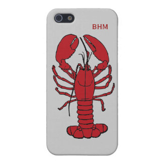 Maine Lobster in Red Optional Initials Custom iPhone 5 Cases