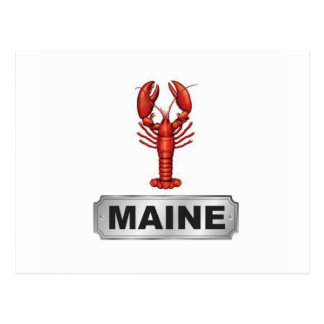 Maine lobster postcard