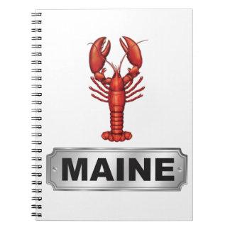 Maine lobster spiral notebook