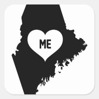 Maine Love Square Sticker