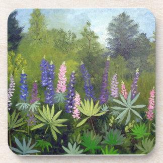 Maine Lupine Flowers Beverage Coasters