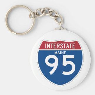 Maine ME I-95 Interstate Highway Shield - Key Ring