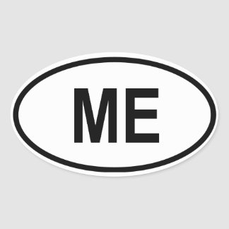 "Maine ""ME"" Oval Sticker"