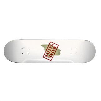 Maine Native Stamped on Map Skateboard Decks
