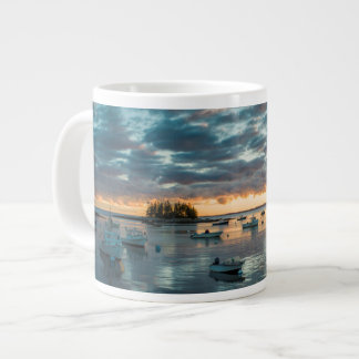 Maine, Newagen, sunset harbor 1 Jumbo Mug