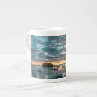 Maine, Newagen, sunset harbor 1 Bone China Mug