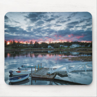 Maine, Newagen, sunset harbor 2 2 Mouse Pad