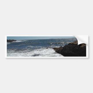 Maine ocean car bumper sticker