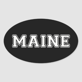 Maine Oval Sticker