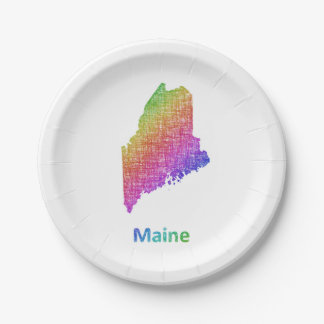 Maine Paper Plate
