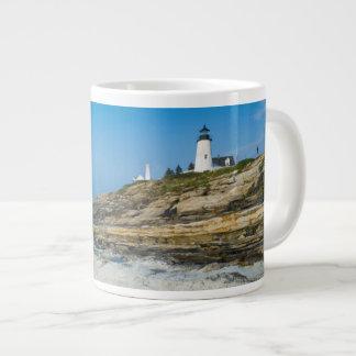 Maine, Pemaquid Point, Pemaquid Point Lighthouse Jumbo Mug