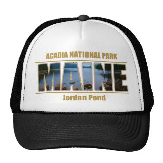 MAINE Picture Font Acadia National Park Hat