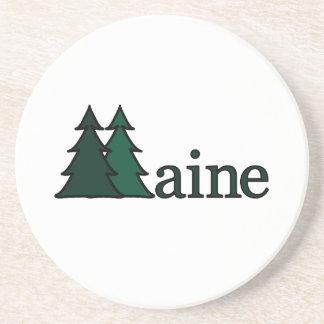 Maine Pine Trees Coaster