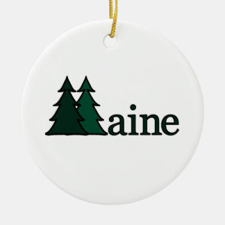 Maine Pine Trees Ornament