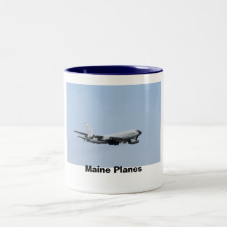 Maine Planes Two-Tone Coffee Mug
