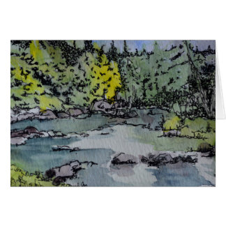 Maine Pond and Woods Blank Card