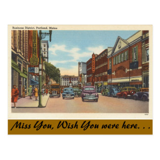 Maine, Portland, Downtown Postcard